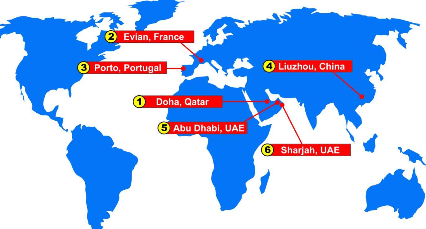 Doha Karte Welt.F1 World Championship Races 2015